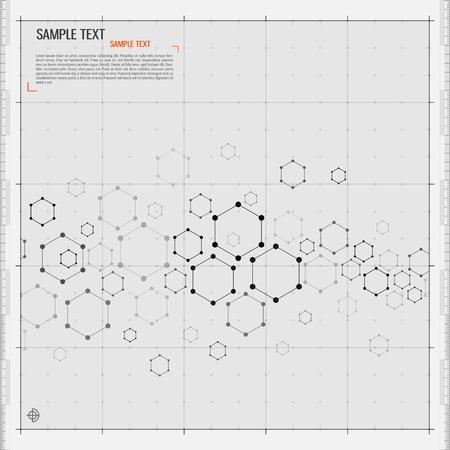 Modern Hexagon background Illustration