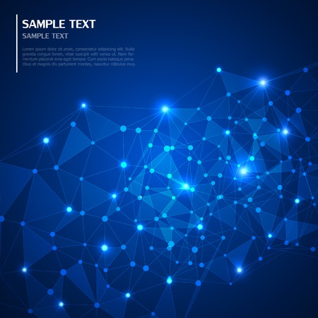 computer science: Technology abstract background Illustration
