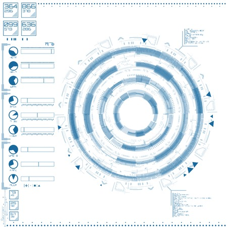 Futuristische grafische gebruikersinterface Stock Illustratie