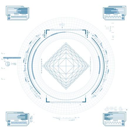 Futuristic graphic user interface