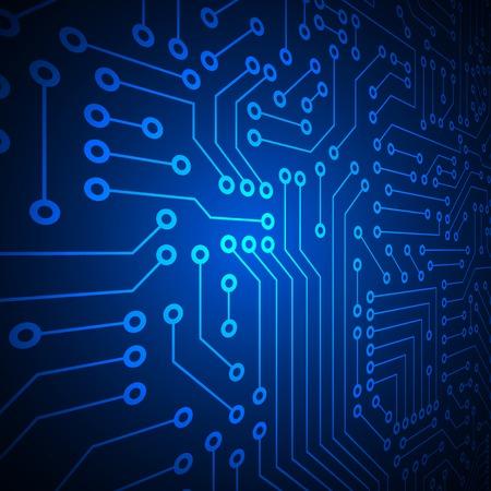 silicon: Computer circuit board. Illustration