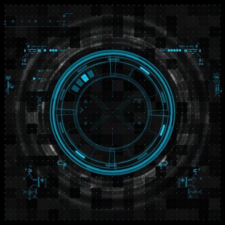 未来的なグラフィックユーザー インター フェース  イラスト・ベクター素材
