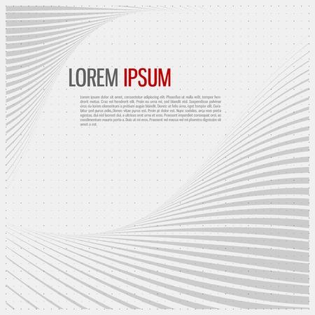 Striped abstract form. Vector illustration. Vettoriali