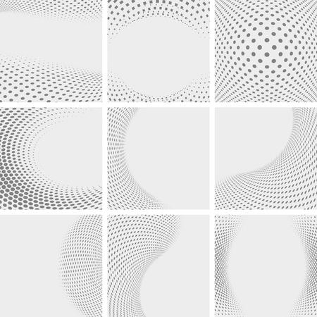 Set di forme astratte tratteggiate Archivio Fotografico - 33327762