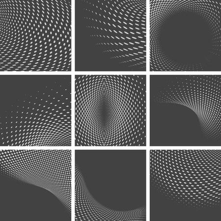 abstracte vormen: Set van gestippelde abstracte vormen