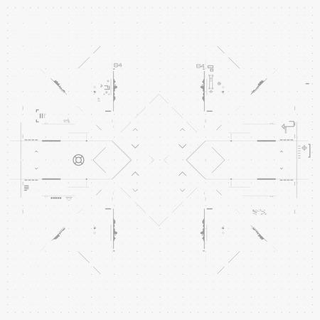 input: Futuristic Graphic User Interface. Illustration