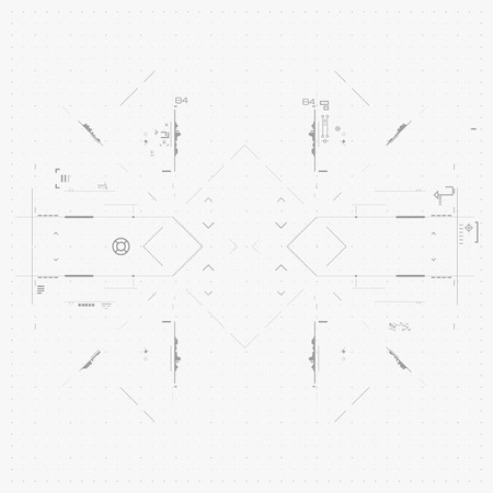 Futuristic Graphic User Interface. Illustration