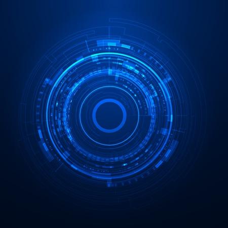 Interface graphique utilisateur futuriste Banque d'images - 34022738