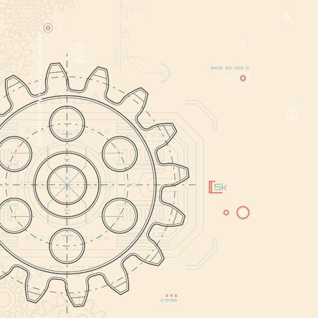 dibujo tecnico: Fondo de tecnología abstracto
