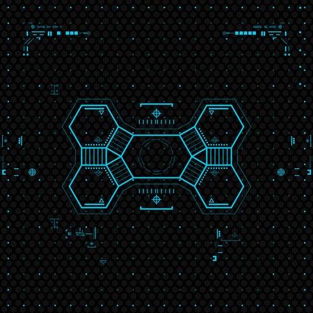 Futuristic Graphic User Interface. Vettoriali
