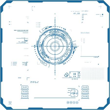 Futuristische Graphic User Interface