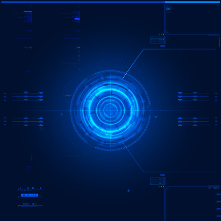 digital illustration: Futuristic graphic user interface