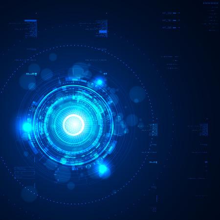 tecnologia: Futuristico interfaccia utente grafica