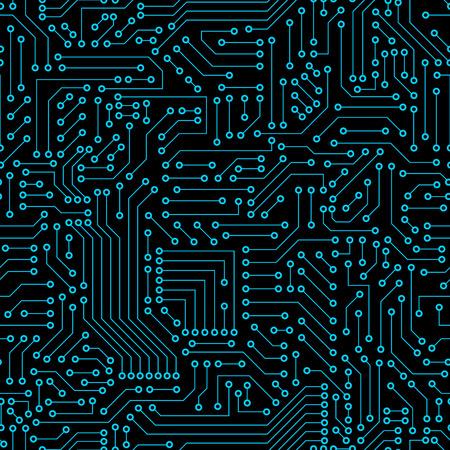 Naadloos patroon. Computer circuit board.