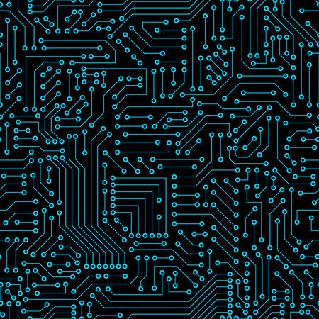 Seamless pattern. Computer circuit bord. Banque d'images - 39612052