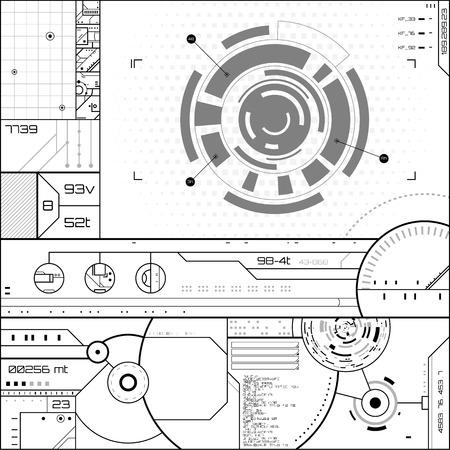 Futuristische grafische gebruikersinterface. Vector illustratie.