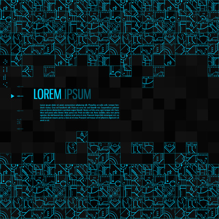 Abstract technological background. Vector illustration. Illustration