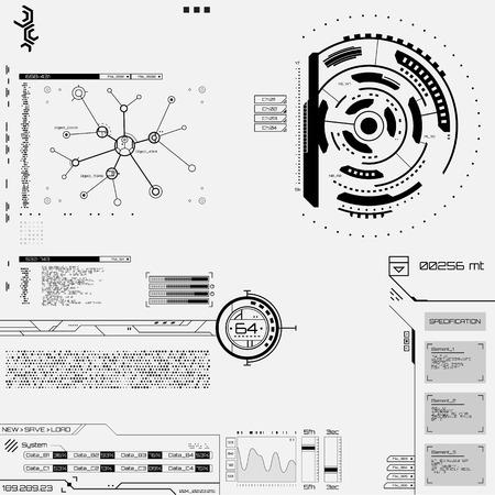 hologram: Futuristic graphic user interface Vector illustration.