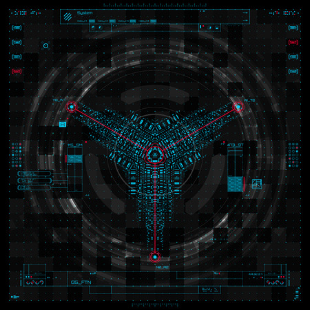 interface: Futuristic graphic user interface vector illustration Illustration