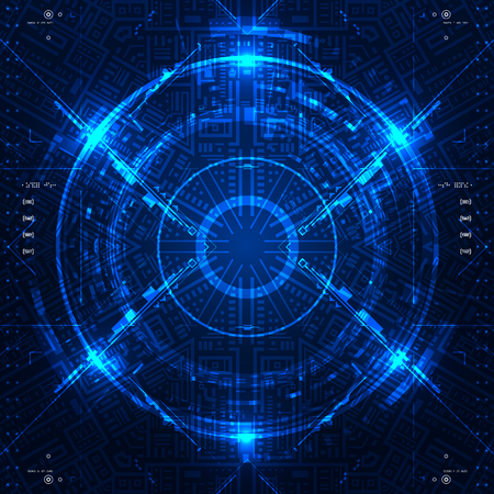 touch screen interface: Futuristic graphic user interface. Vector illustration.