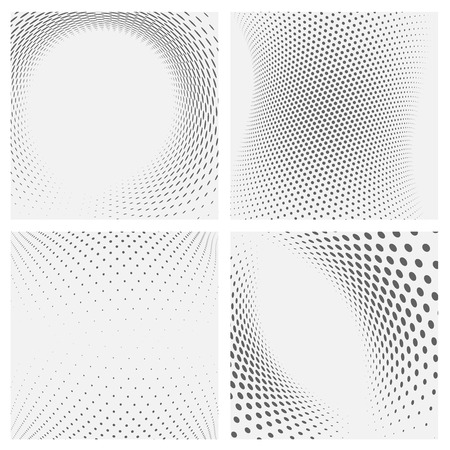 Set of dotted abstract forms. Vector illustration. Illustration