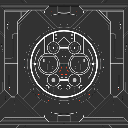 Futuristic graphic user interface Vector illustration.