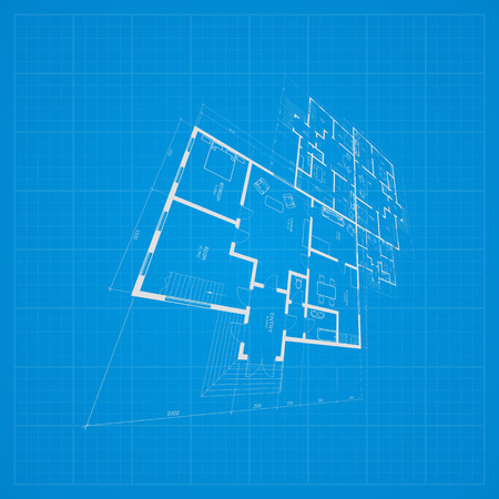 Abstract architectural background. Vector illustration. Illustration