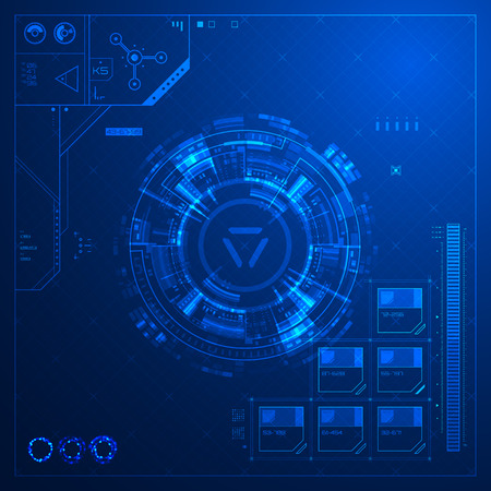 Abstract technological background Vector illustration. Vettoriali