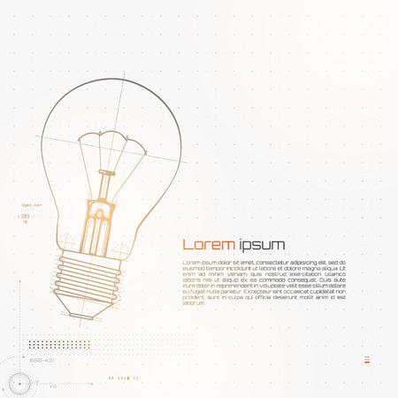 energysaving: Illustration Of Lightbulb.