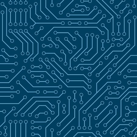 macro: Computer circuit board. Seamless pattern.