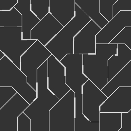 techno: Abstract vector seamless pattern with lines.