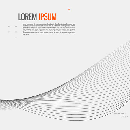 Tech background with abstract wave line. Vector illustration. Vettoriali