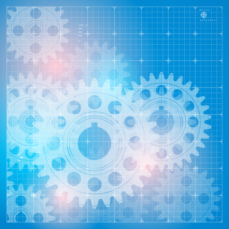 Abstract technology background with a cogweels vector illustration