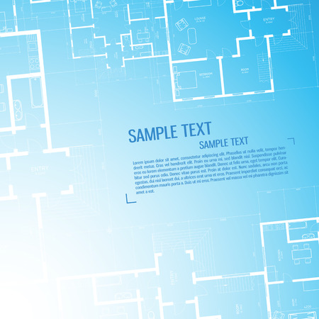 Architectural wallpaper background with sample text vector illustration