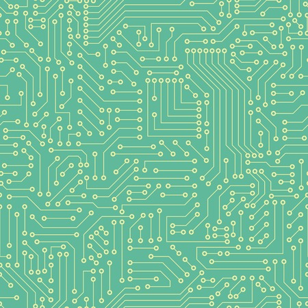 Computer circuit board Vector illustration.