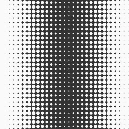 Black and white halftone dotted texture. Vectores