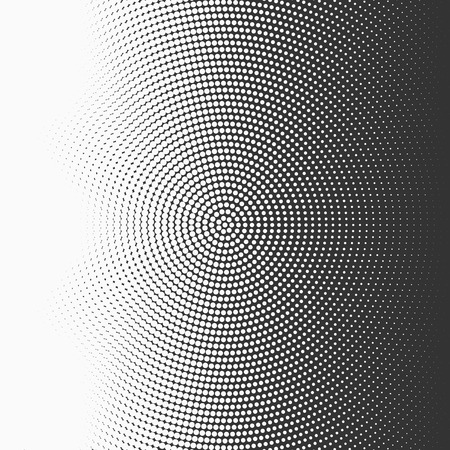 Dotted abstract form. Vector illustration Illustration