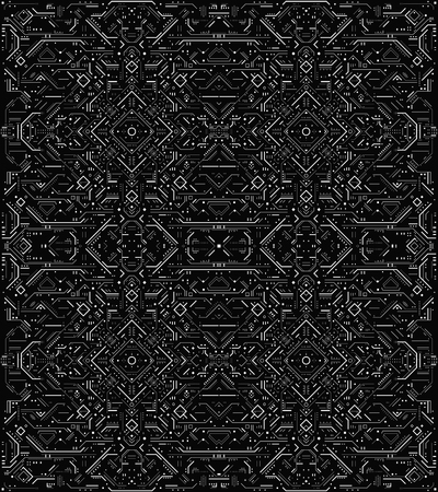 Abstraktes futuristisches HUD-Muster. Futuristische Sci-Fi-Benutzeroberfläche. Futuristischer abstrakter Technologiehintergrund. Vektor-Illustration.