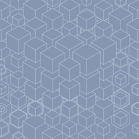 Empilage de cubes. Construction à partir de nombreux cubes. Vecteurs