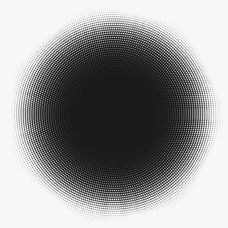 Dotted abstract form. Vector illustration Vectores