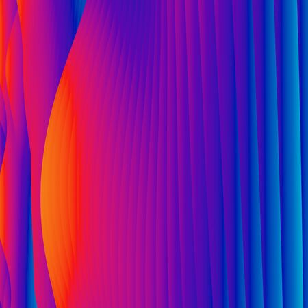 Abstract colorful wavy background in bright violet and yellow colors. Modern colorful wallpaper. 3d rendering. Archivio Fotografico