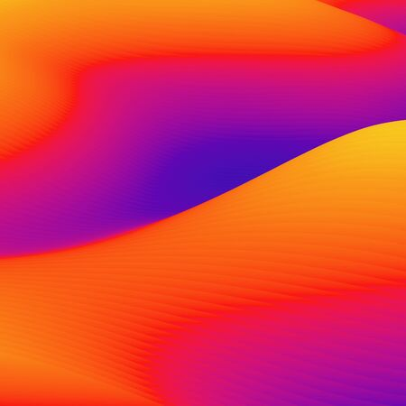 Abstract colorful wavy background in bright rainbow colors. Modern colorful wallpaper. 3d rendering. Archivio Fotografico