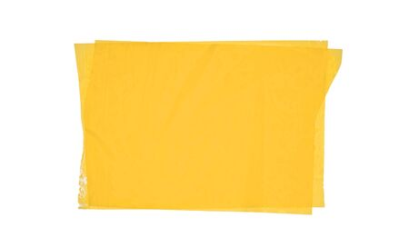Adhesive tape in yellow color isolated on white background.