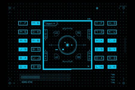 Futuristic graphic user interface. Technology background. Vector illustration