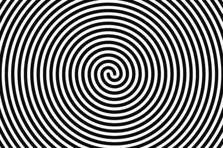 Concentric hypnotic spiral. Concept illusttration of hypnosis, vertigo. Abstract vector background.