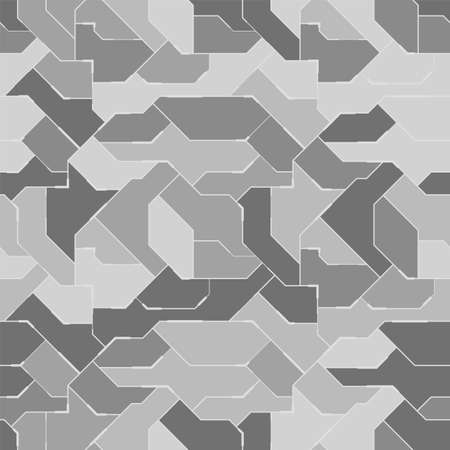Seamless camouflage pattern. Military fabric design for army, hunting, paintball or other. Abstract vector background.