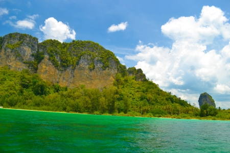 South east asian at Andaman sea landscape in Krabi,A South province of Thailand  Stock Photo - 13786801