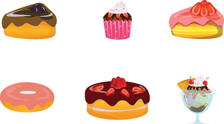 Desserts illustrator  Vector