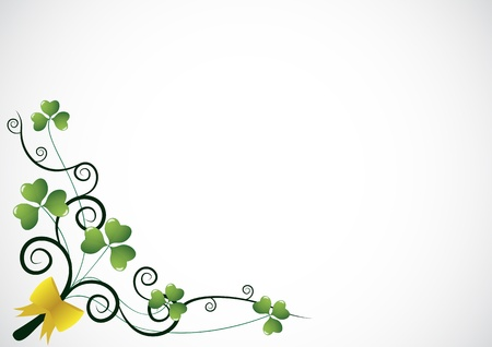 St.Patrick day background as clover border Vector