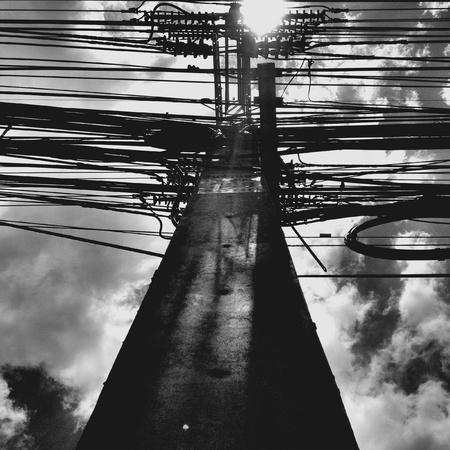 mediodía: Cielo del mediod�a Foto de archivo